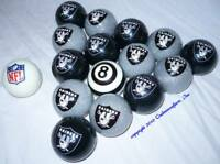 NEW Officially Licensed NFL Oakland RAIDERS Billiard Pool Cue Ball Set FREE SHIP