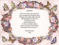 Personalized Poem For Grandmother Gift Christmas Birthday Mother's Day