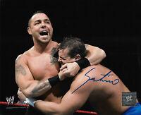 WWE SANTINO HAND SIGNED 8X10 PHOTOFILE WITH C.O.A