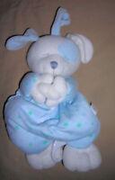 KIDS II  BLUE & WHITE PUPPY DOG MUSICAL CRIB PULL TOY