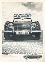 1962 Triumph TR4 TR-4 - Beat TR3 - Classic Vintage Advertisement Ad