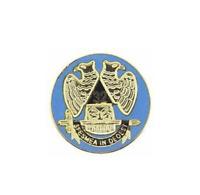 MASON MASONIC BLUE GOLD  LAPEL PIN