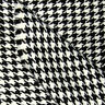 "ACRYLIC JACKET PRE-YARN DYED FABRIC VINTAGE HOUNDSTOOTH CHECK BLACK WHITE 44""W"