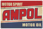 AMPOL MOTOR OIL VINTAGE TIN SIGN