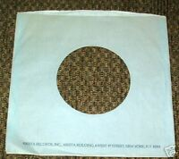 "ARISTA RECORDS COMPANY logo PAPER SLEEVE blue/gray Jacket Cover for 7"" Record♫VG"