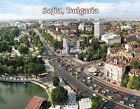 Bulgaria - SOFIA downtown - Travel Souvenir Fridge Magnet