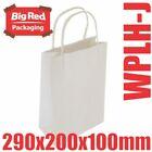 250 Junior White Kraft Paper Gift & Shopping Bags Twist Rope Handles 290x200x100