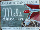 Mels Drive In Diner 59 Cadillac Tail Fins Tin Metal Sign Mancave Chevrolet