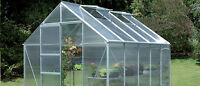 Greenhouse glazing sheets, 6 of 2ft x 4ft, 610 x 1220mm, 4mm clear polycarbonate