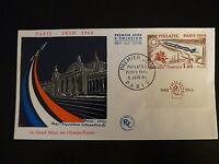 FRANCE PREMIER JOUR FDC YVERT 1422 EXPOSITION PHILATELIQUE 1 F PARIS 1964