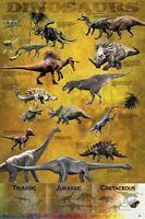Dinosaur Poster Educational Wall Chart  Gloss Laminated New Sealed Free UK P&P