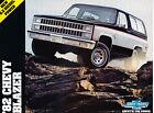 1982 Chevrolet Blazer Original Car Dealer Sales Brochure - Chevy