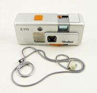 Vintage ROLLEI E110 Camera TESSAR 23mm f/2.8 Lens 110 Cartridge Film GERMANY