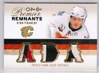 09-10 O-Pee-Chee Premier Remnants Dion Phaneuf Triple Jersey Patch #/25
