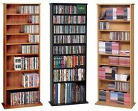 500 CD 204 DVD Oak Veneer CD DVD Storage Wall Rack NEW