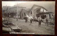 CLEANING STREETS AFTER AUSTIN FLOOD 1911 AUSTIN PENNSYLVANIA PA Photo Postcard