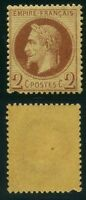"FRANCE  N° 26   ""  NAPOLEON III  2c  ROUGE-BRUN  ""  NEUF x  A VOIR"