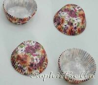 100 flowers celebrations party muffin cases paper baking cup cupcake liners B210