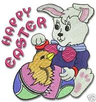 Cute Easter Egg Machine Embroidery Designs 4x4 CD