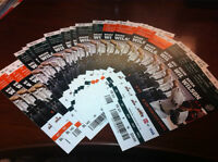Matt Cain PERFECT GAME Ticket Stubs (season tickets) SF Giants 6/13/2012