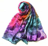 Brond New 100% Silk colorful Oblong scarf/shawl/belt/wraps #3600