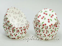 100 cherry birthday party kids baking cup cupcake liner muffin cases paper B174