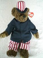 Ty Attic Treasures Samuel Uncle Sam Patriotic Plush Bear - New with Mint Tag