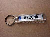 Opel Ascona Keyring - German Car Licence Plate Style Auto Keytag / Keyfob