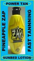 POWER TAN ZAP PINEAPPLE DARK TANNING SUN BED UVA ACCELERATOR LOTION  + FREE GIFT