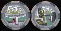 Casino Chip $1 Fitz Fitzgeralds Vegas Poker 2010 obsolete