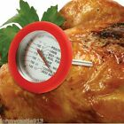 NORPRO 5978 Large Dial Oven Safe Meat Thermometer Stainless Steel Silicone