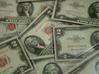 (1) 1953 - 1963 $2 Two Dollar Red Seal United States Note from Lot