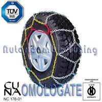 CATENE DA NEVE GHIACCIO SUV 4X4 FURGONI GR 25,8 OMOLOGATE 16 MM 10x80-12