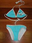 Girls ROXY KIDS Blue 2 Piece Bathers Bikini Swimwear Size 2 BNWOT