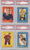 1959 Topps Hockey Leo Labine # 7 PSA 6 Boston Bruins Card