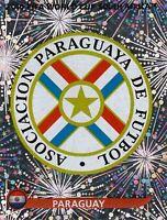 Panini Sammelbilder Fußball WM 2010 Nr. 430 Paraguay Wappen Logo Glitzersticker
