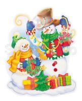 New - 3D Christmas Xmas Window Snowman Decoration - Re-usable/Room Decoration