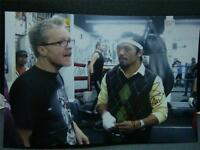 MANNY PACQUIAO Freddie Roach photo 8x12 brown INK authentic AUTOGRAPH COA #1m