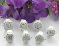 7pcs mixed styles rhinestone watch white elastic Finger Rings #22451
