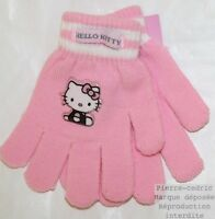 Lot 3 paires Gants Fille Hello Kitty Couture Pierre-cedric Extensible 2 couleurs