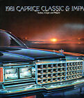 1981 Chevrolet Caprice Classic and Impala 20-page Sales Brochure Catalog - Chevy