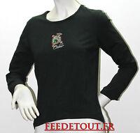 tee shirt manches longue noir oxbow t 40