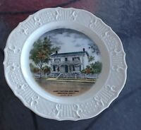 VINTAGE SOUVENIR PLATE JAMES WHITCOMB RILEY HOME GREENFIELD INDIANA