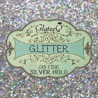 "40g Rockstar Toes / Nail Glitter Extra Fine .008"" / .015"" / .040"" SILVER HOLO."