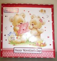 Happy Valentine's Day Handmade Boxed Cute Card With Two Bears (MI150A)