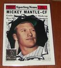 1997 Topps Mickey Mantle Reprints #32 1961 Topps All Star The Sporting News *S1
