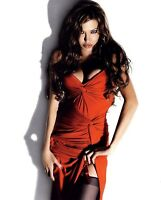 ANGELINA JOLIE PHOTO sexy red dress photograph picture