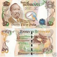 BOTSWANA 50 Pula Banknote World Paper Money UNC Currency p 28 Bill Africa Note