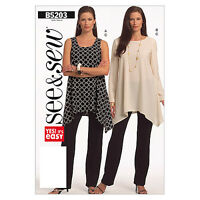 Butterick 5203  See & Sew Easy Sewing Pattern to MAKE Pullover Tunic & Trousers