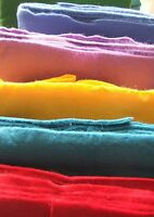 "Wool blended felt fabric - from 36"" bolt, per 1/2 metre - red/yellow/pinks"